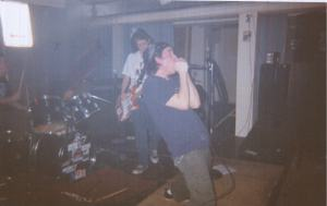 This is me being hardcore...in my grindcore band.